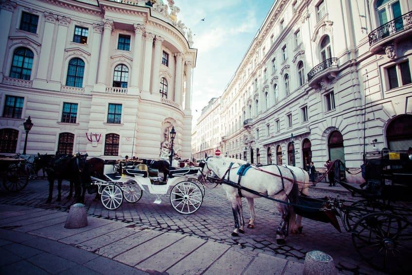 Fiaker paardenkoets Wenen
