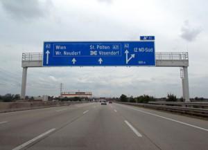Snelweg naar Wenen