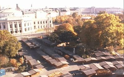 Opbouw kerstmarkten Wenen begonnen